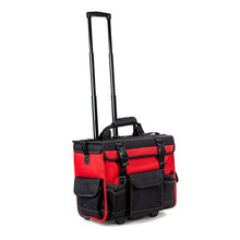 Wide Mouth Rolling Tool Storage Organizer Bag Heavy Duty electrician Tool Carrier Water Resistant Tool Tote Bag