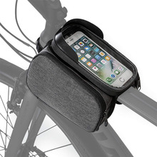 Water Resistant Bike Top Tube Bag Frame Dual Pannier with Detachable Bicycle Phone Bag