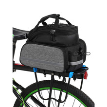 Bicycle Rear Seat Bag Multifunction Expandable Water Resistant Bike Pannier Bag Bicycle Rack Trunk Bag
