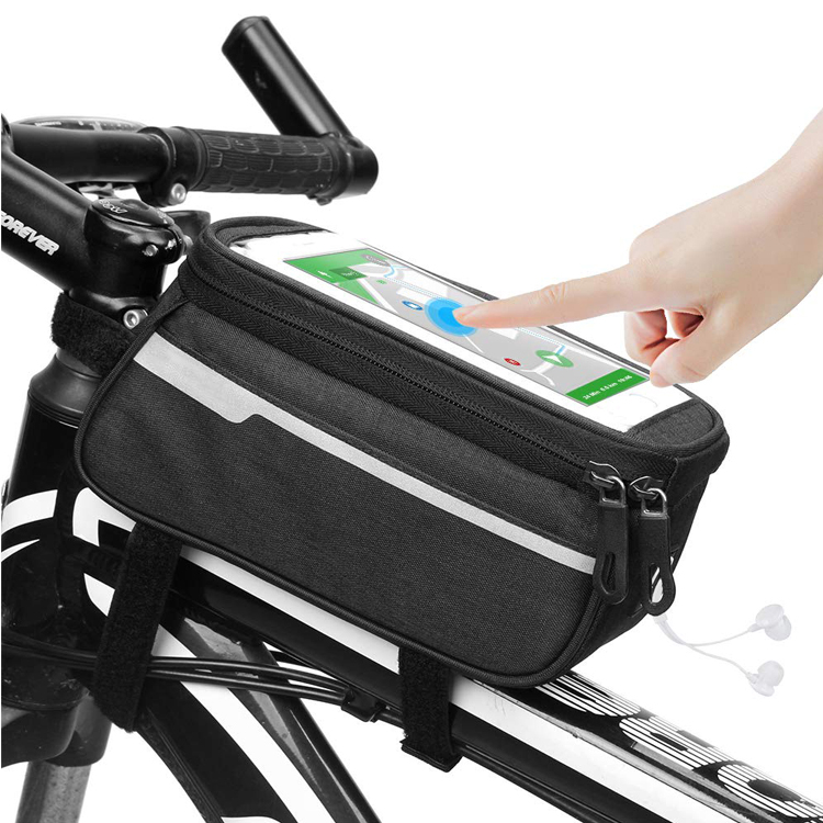 Bicycle Waterproof Front Frame Top Tube Bag Bike Compatiable Storage Pack Cycling Bicycle Phone Bag