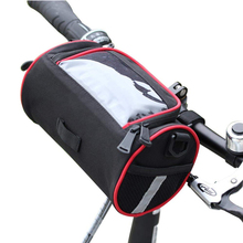 Bike Basket Handlebar Bag with Shoulder Strap for Mountain Road MTB Bicycle Phone Bag