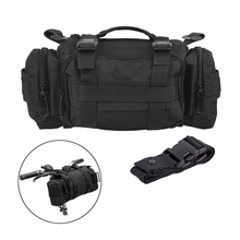 Outdoor Multi Purpose Tactical Bike Waist Pack Heavy Duty Water Resistant MOLLE Bicycle Handlebar Bag