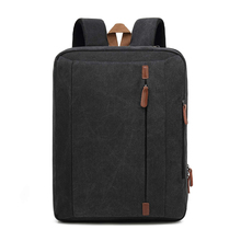 Convertible Laptop Messenger Shoulder Pack Canvas Multi Functional Briefcase Laptop Backpack