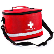 First Aid Bag with Shoulder Strap Compact Portable for Emergency Home Outdoor Travel Camping Activities