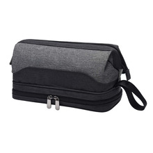 Wash Shaving Bathroom Organizer Dopp Kit with Double Compartments Travel Toiletry Bag