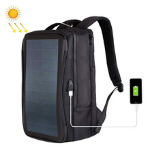 Outdoor Multi function Large Capacity Solar Panel Casual Backpack Laptop Bag with Handle