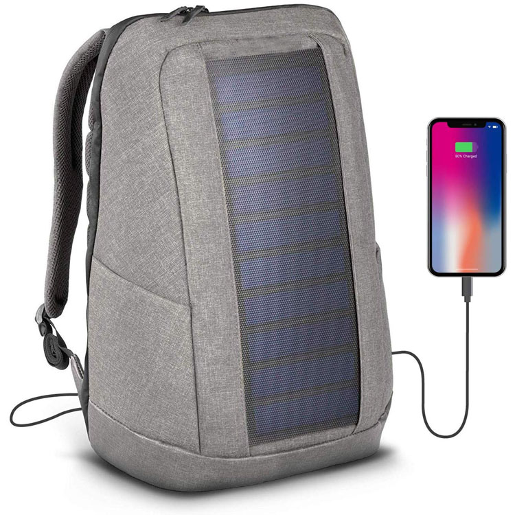 Solar Backpack 7 Watt Solar Panel Charge All Smartphones and Portable USB Devices 20L Volume