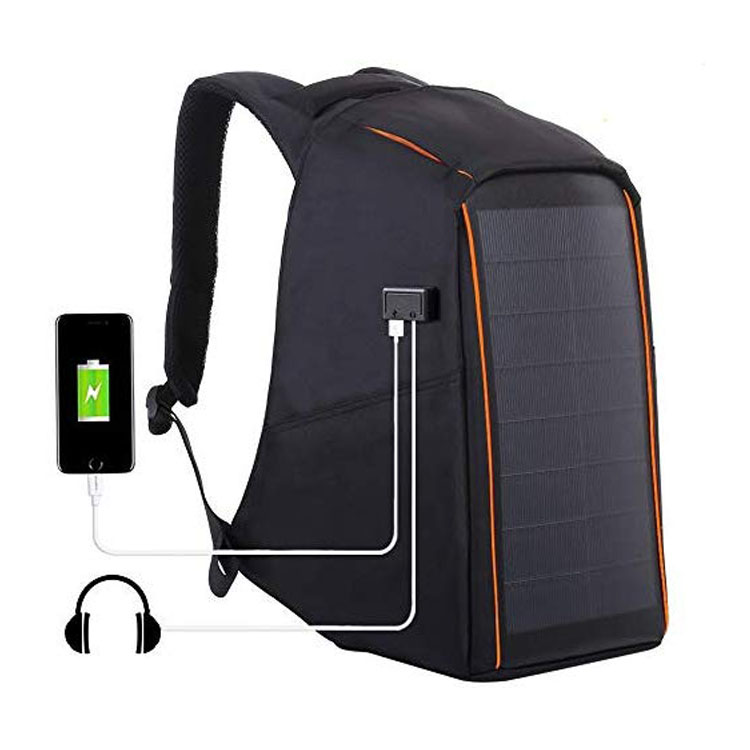 Outdoor Multi-function Large Capacity Solar Panel Casual Backpack Laptop Bag with Handle