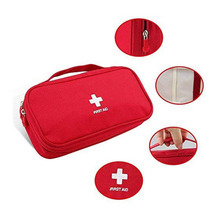 First Aid Bag Roomy Empty Kit Bag Medical Emergency Survival Outdoor Pouch for Home Office Outdoor