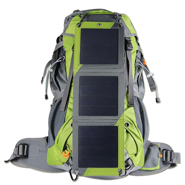 Fly Hiking Solar Backpack with Waterproof Cover,Solar Charger