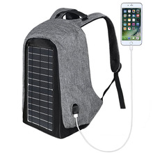 Solar Powered Backpack with High Efficiency Solar Panel Bag Solar Charger Pack