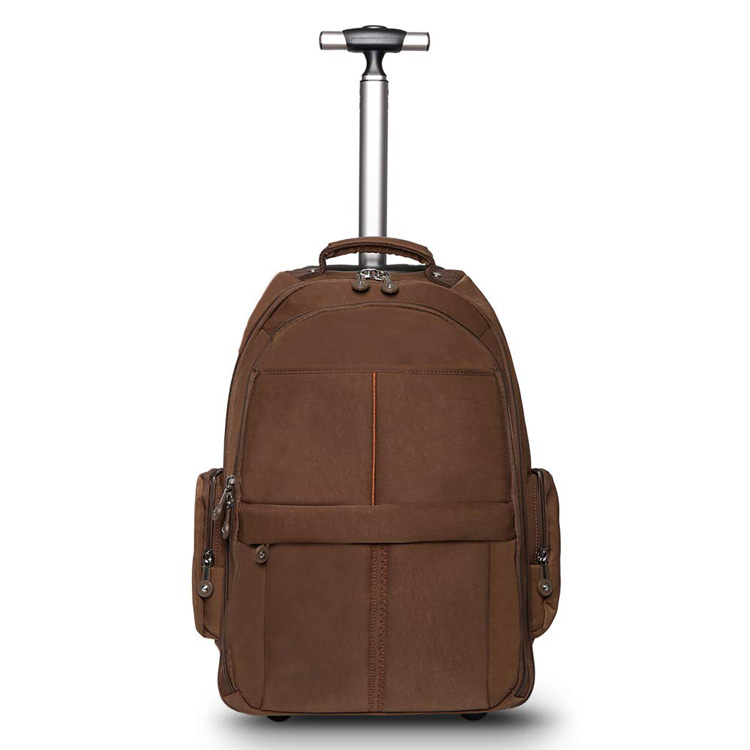 Wheeled Rolling Backpack for Men Business Laptop Travel Trolley Bag