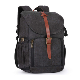 Anti Theft DSLR SLR Photography Bag Water Resistant Canvas Backpack with Rain Cover Camera Bag