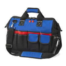 Heavy Duty Tool Bag 18inch Wide Mouth Canvas Tool Organizer with Water Proof Molded Base