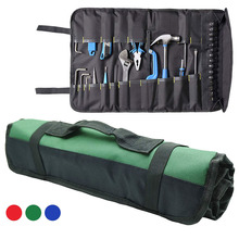 37 Pockets Tool Roll Pouch Bag  Waterproof Wrench Storage Roll Up Organizer Bag
