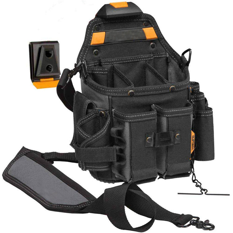 ClipTech Pouch Bag Hub with Shoulder Strap 21 Pockets