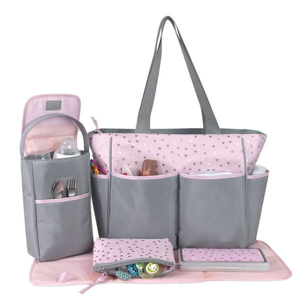 Diaper Bag Tote 5 Piece Set changing bag