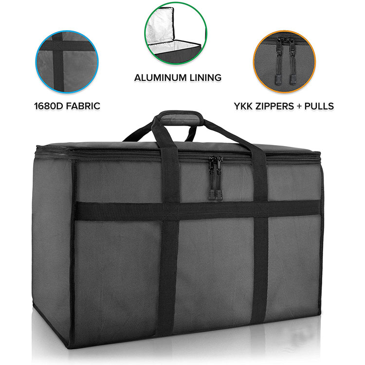 Insulated Food Delivery Bag Premium Large Commercial Catering Bag for Food Transport