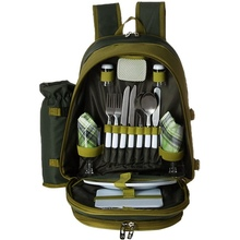 Picnic Backpack for 4 Person with Cooler Compartment