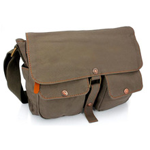 Canvas Satchel School Military Shoulder Messenger Crossbody Bag