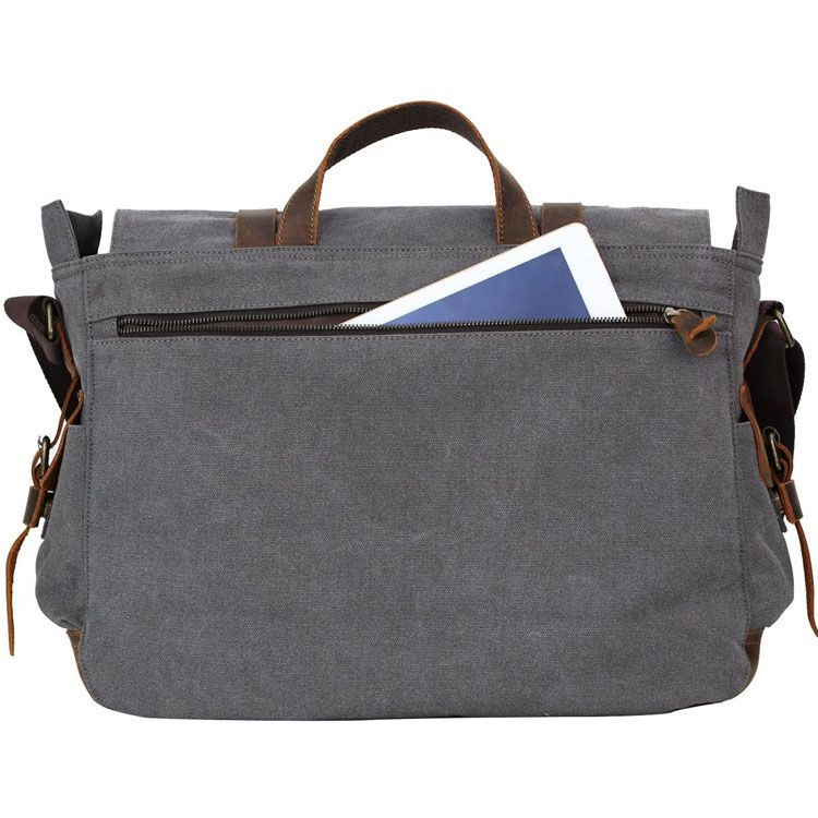 Messenger Bag for Men 17.3 inch Canvas Laptop Bag Bookbag Working Bag for Business School
