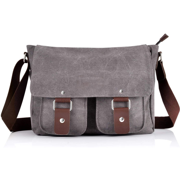 Vintage Canvas Satchel Messenger Bag Cross Body Bag
