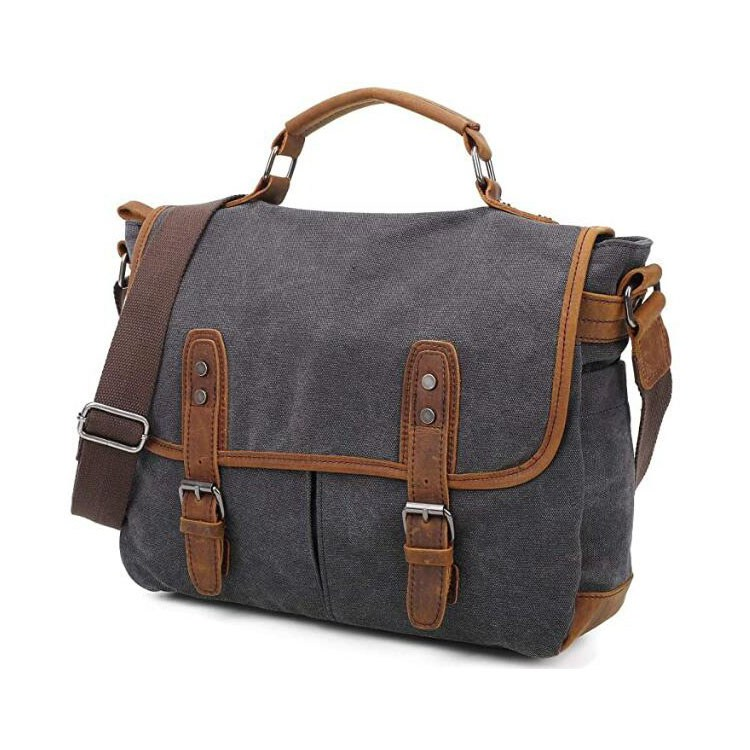 Messenger Bag Canvas 15.6 Inch Durable Laptop Case Handbag