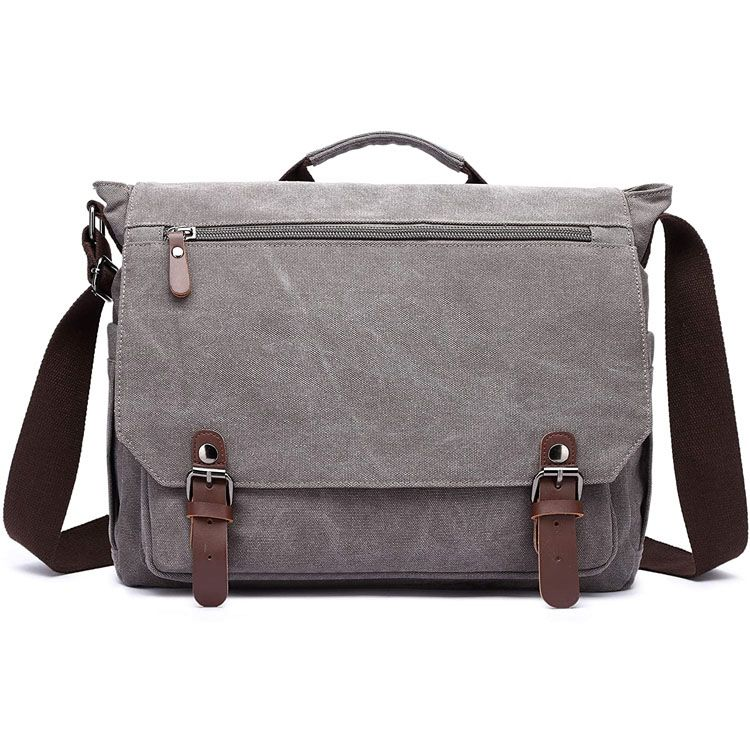 15 inch Laptop Messenger Bag Canvas Briefcase