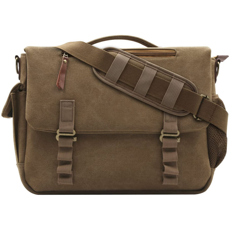 Canvas Laptop Shoulder Briefcase Bag