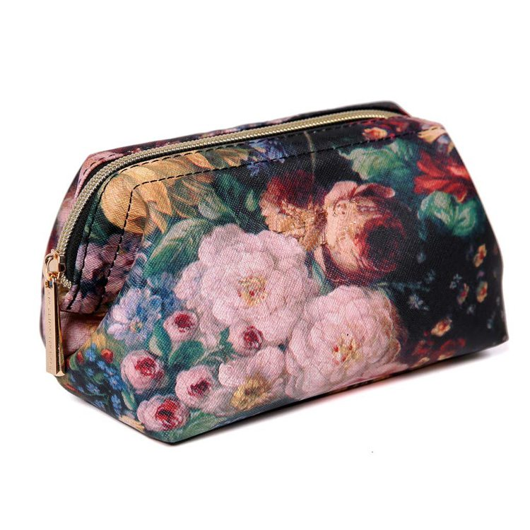 Leather Waterproof Travel Cosmetic Bag Toiletry Organizer Pouches