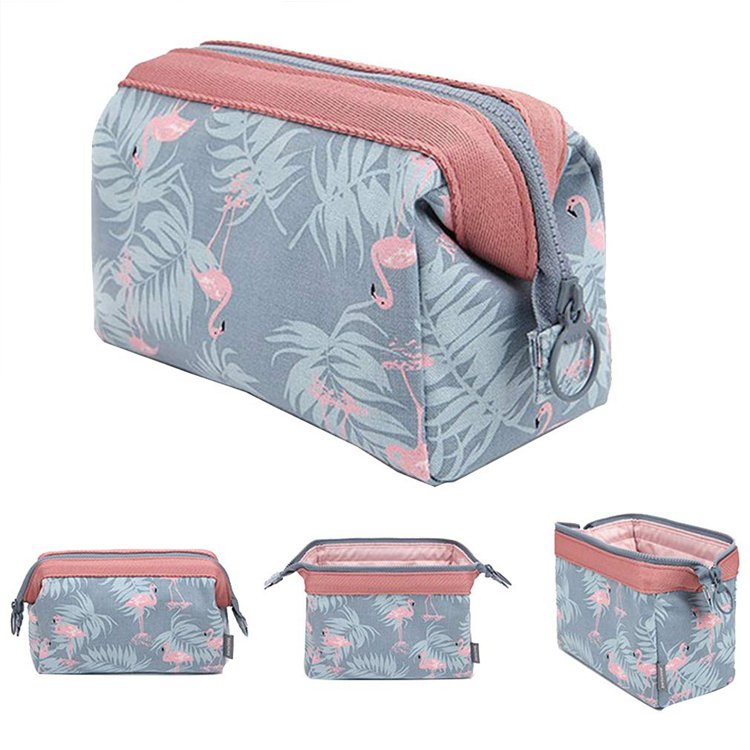 Makeup Bag Travel Cosmetic Bags Brush Pouch Toiletry Kit Fashion Women Jewelry Organizer with Zipper Flamingo Make up Carry Case