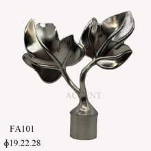 FA101,aluminium alloy curtain rod finial