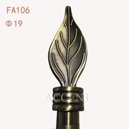 FA106,aluminium alloy curtain rod finial