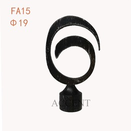 FA115,aluminium alloy curtain rod finial