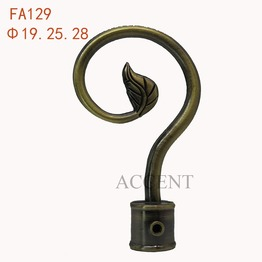 FA129,aluminum alloy curtain rod finial