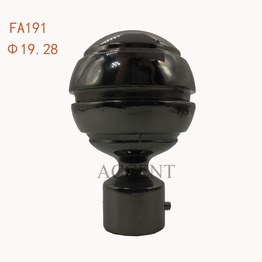 FA191,aluminium alloy curtain rod finial