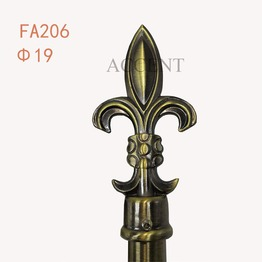 FA206,aluminium alloy curtain rod finial