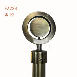 FA228,aluminum alloy curtain rod finial