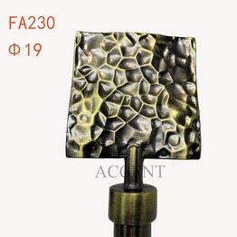 FA230,aluminum alloy curtain rod finial