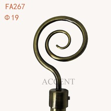 FA267,aluminum alloy curtain rod finial