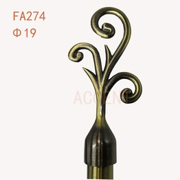 FA274,aluminum alloy curtain rod finial