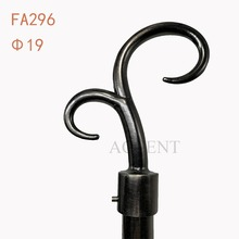 FA296,aluminum alloy curtain rod finial
