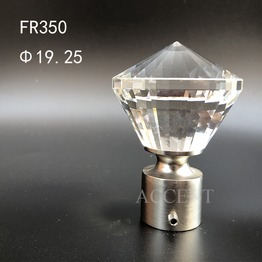 FR350,crystal curtain rod finial