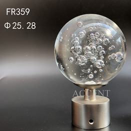 FA359,crystal curtain rod finial