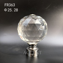 FR363,crystal curtain rod finial