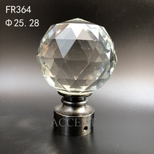 FR364,crystal curtain rod finial