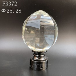 FR372,crystal curtain rod finial