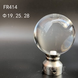 FR414,crystal curtain rod finial