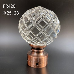 FR420,crystal curtain rod finial