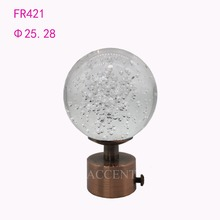 FR421,crystal curtain rod finial